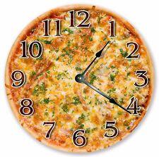 "10.5"" CHEESY PIZZA CLOCK - Large 10.5"" Wall Clock - Home Décor Clock - 3195"