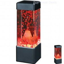 Red Volcano Lava Lamp Table Electric Vintage Look Art Lamps Deco Living Room Toy