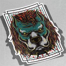 Hermoso Pitbull Mascota Perro Bulldog am Vinilo Pegatina Calcomanía ventana de coche furgoneta bicicleta 3155