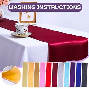 Satin Table Runner Table Runners for Wedding, Birthday Parties Banquets Decorats