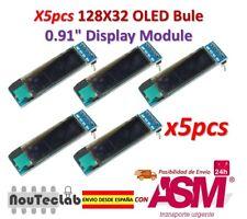 5pcs 0.91 Inch Blue 128X32 OLED LCD LED Display Module