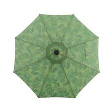 allen + roth Green Palm Leaf Market 9-ft Auto-tilt Round Patio Umbrella