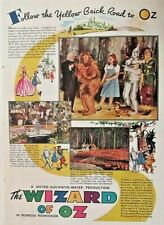 THE WIZARD OF OZ, American Magazine Ad, MGM, Vintage 1939 Antique Print Ad RARE