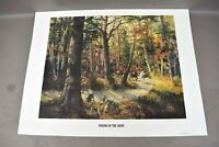 Ramona Bendin Picking Up The Scent Art Print 78/500 Pencil Signed Dog Hunting