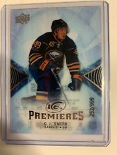 2017-18 C.J. SMITH UPPER DECK ICE PREMIERES ROOKIE #144 252/999 BUFFALO SABRES