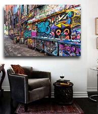 Grafitti Street Art Melbourne Australia  36x24 Canvas Print Urban Art