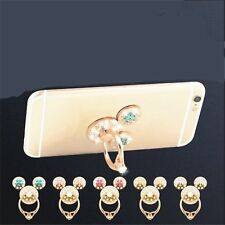 1 Piece Rhinestone Finger Ring Cute Mobile Phone Holder Stand Ring Fashion