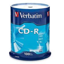 Verbatim CD-R 700MB 52X Branded 100-Pack Spindle