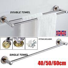 40/50/60cm Single Double Towel Rail Rack Holder Wall Mounted Bathroom Kitchen UK