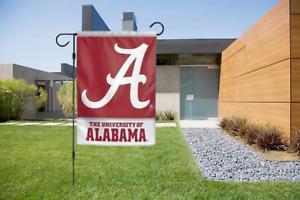 Alabama Crimson Tide 2 Sided Double Garden Flag Outdoor Window Banner 12 x18 New