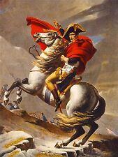 PRINT PAINTING NAPOLEON BONAPARTE EMPEROR FRANCE ALPS ST BERNARD HORSE NOFL0957