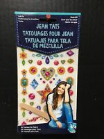 Jean Tats Yolo Epic Wash Off Temporary Clothes Rub On Tattoos 19 Pc New