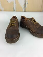 Dr Doc Martens Oxford Brown Leather Shoe 4 Eye SIZE Womens 7.5
