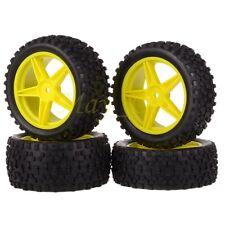 4x 1/10 HSP Off-Road Buggy Front Rear Wheel Rims Tyres,Tires Sponge 66003-66023
