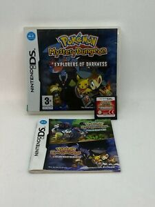 Pokemon Mystery Dungeon Explorers of Darkness - Nintendo DS - COMPLETE FREE DEL