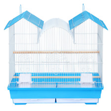 23'H Triple Roof Bird Cage Portable Bird Cage For Cockatiels Bird Travel Cage