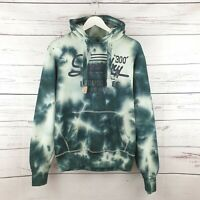 Superdry Limited Edition Black and White Tie Dye Hoodie Sweater Size Medium M