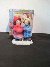 "Raggedy Ann & Andy by Enesco ""To Have A Friend Is To Be Happy"" Figurine w/Box"