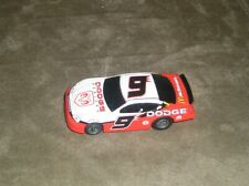 LIFE LIKE #9 NASCAR DODGE DEALERS CHARGER MCDONALDS W/ T-CHASSIS SLOT CAR