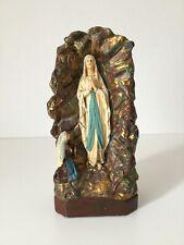 Heiligenfigur Maria Lourdes Bernadette Gips Madonna Skulptur Statue Um 1900 Rar