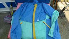 kway k-way veste  vintage tricolore  bleu vert jaune  T XL se met en boule