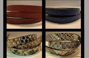 100% Real Flat Leather Cord (Italian) Animal Skin Style.Brancelet Jewellery - HQ