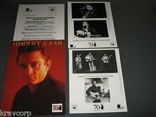 JOHNNY CASH '70TH BIRTHDAY REISSUES' 2002 PRESS KIT—2 PHOTOS
