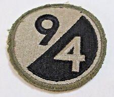 WW2 WW2 94th Division Patch Green OD Border