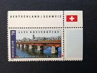 BRD 2008 1 Briefmarke Rand OR Alte Rheinbrücke bei Bad Säckingen MiNr 2691