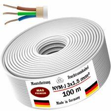 Feuchtraumkabel Stromkabel Mantelleitung 100m NYM-J 3x1,5 mm² Elektrokabel