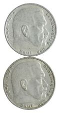 1937 1937 GERMAN WW2 NAZI 2 Mark Swastika Silver Coin - Germany War *442