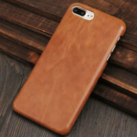 HQ Vintage Genuine Slim Cowhide Leather Back Case Cover For iPhone X 6S 7 8 Plus