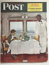 """Saturday Evening Post 12/7/46 COVER ONLY Rockwell """"New York Central Diner """""""