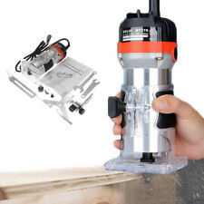 220V  Corded Electric Hand Trimmer Wood Laminator Router Tool Set 35000r/min