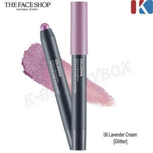 THE FACE SHOP Coloring Stick Eye Shadow #06 Lavande Cream / Smooth Texture