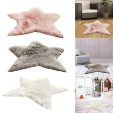Star Shaped Fluffy Mat Rugs Kids Boys Girls Fake Faux Fur Bedroom Soft Rug Mats