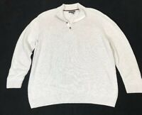 Men's 3XLT Alfani Big & Tall Long Sleeve Pullover Sweater 4 Button V-Neck EUC