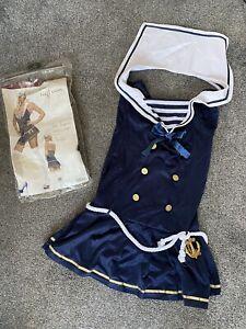 Legs Avenue Sailor Girl Costume Sz Med/lge