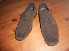GEOX Chaussures DERBIES 39 homme marron mocassins shoes CASUAL  cuir
