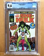 Savage She-Hulk #1 CGC 9.6 NEWSSTAND White pgs; 1st app. Jennifer Walters; 1980
