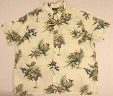 Croft & Barrow Button Down Shirt 2XL Hawaiian Drinks Pina Colada Tropical Travel