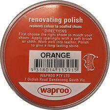 Orange Shoe Polish Cream - Waproo Renovating Polish - Top Quility !!