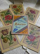 Sajou Set of 6 Post Card Tapestry Charts- Album de Tapisserie 104-  Flowers