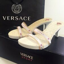 NWB Versace Sport Women's Sandals Shoes Size 37 White Red Heels