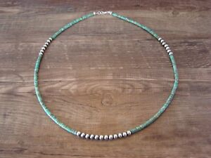 Navajo Indian Jewelry Hand Strung Turquoise Desert Pearl Necklace! Doreen Jake