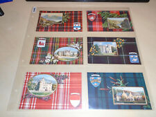 More details for set of 6 early tuck oilette pcs - scottich clans - series v no. 9480