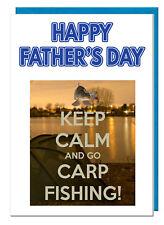 pêche à la carpe a thème fête des pères CARTE POUR PAPA Papy - Joyeux de Père