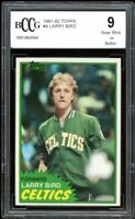 1981-82 Topps #4 Larry Bird Card BGS BCCG 9 Near Mint+