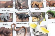Montessori Australian Animal Match -Miniature Figurine w/ Matching Cards