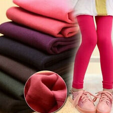 Kids Girls Leggings Trousers Winter Thermal Fleece Pants Cotton Warm Age 1-13